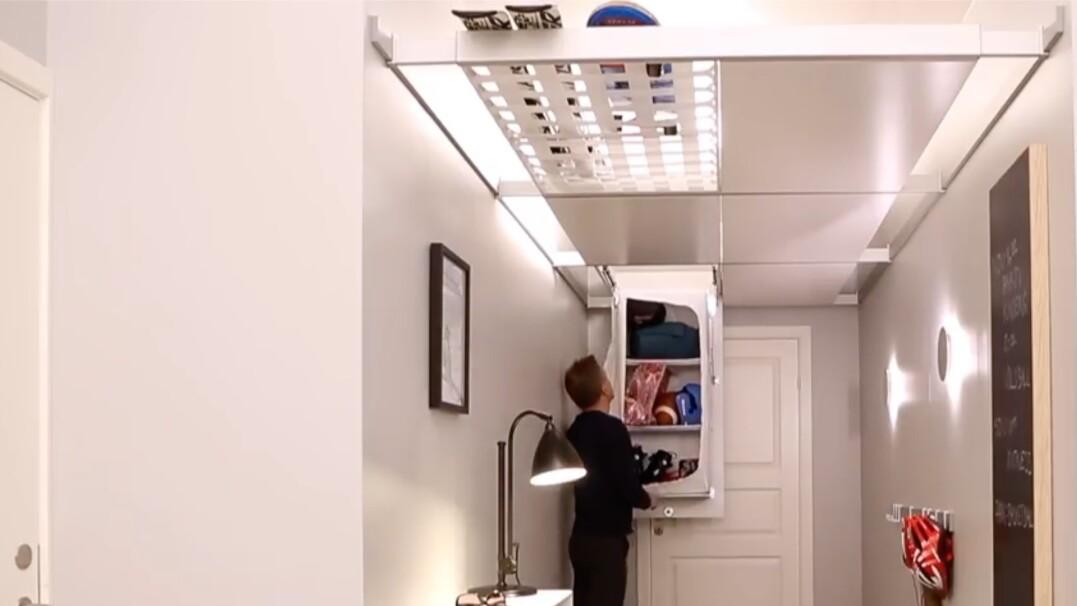 Brak miejsca na szafę w mieszkaniu? Zamontuj ją na suficie