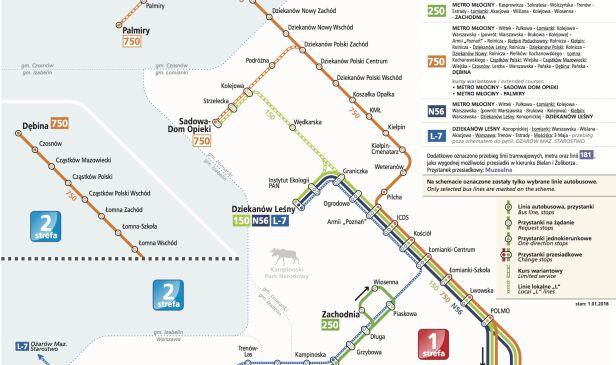 Schemat komunikacji miejskiej w Łomiankach Zarząd Transportu Miejskiego