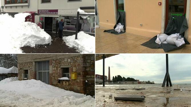 Gwałtowna pogoda w Europie nie odpuszcza. Śnieżyce, wichury, ulewy