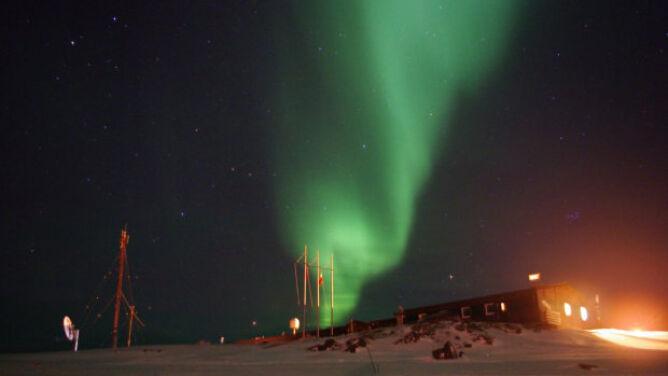 Elektrometeory na niebie nad Hornsundem