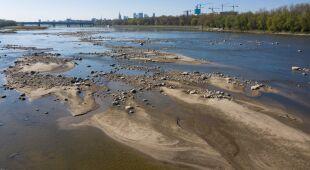 Niski poziom wody w rzekach