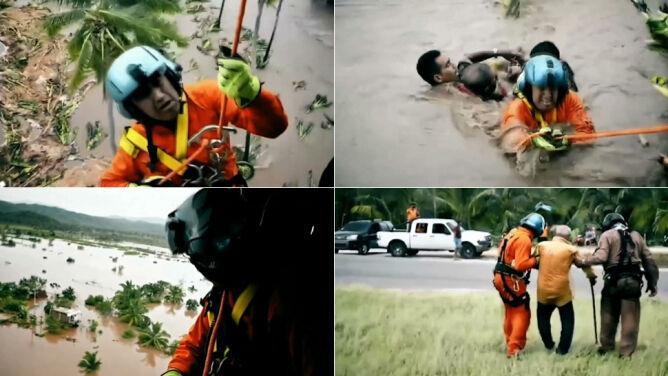 Burza tropikalna, powódź <br />i dramatyczna akcja ratunkowa