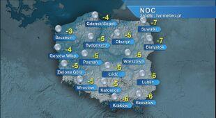 Prognoza pogody na noc 24/25.03