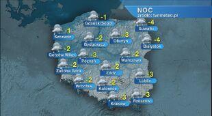 Prognoza pogody na noc 10.01