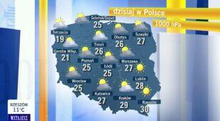 4 polskie miasta wśród 15 najcieplejszych w Europie (TVN Meteo)